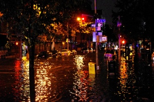 Hurricane Sandy Flooding Avenue C at East 6th Street